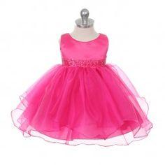 5be651976fc Fuchsia Beaded Joyance Baby Dress Girls Special Occasion Dresses