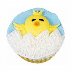 Happy Bird-day Cupcakes - I'm not a fan of using a star tip to fill in, but you can do what you want with the idea!