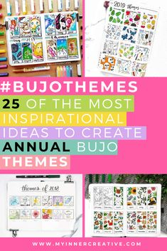 Are you wanting to create a gorgeous cohesive theme throughout your notebook? Not sure where to start? Try these examples of stunning ways to create annual bullet journal theme spreads and ideas in your notebook!