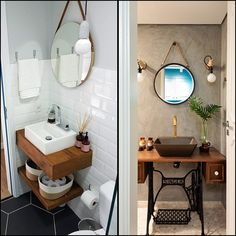 Design, motivation, and DIY suggestions for renovationing your bathroom on a tight budget. Awesome DIY home projects, inspiration for your house, and cheap renovationing a few ideas for your master bathroom. Kid Bathroom Decor, Simple Bathroom, Modern Bathroom, Bedroom Decor, Small Bathrooms, Very Small Bathroom, Dream Bathrooms, Master Bathroom, Décor Niche