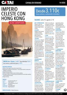 Verano: CHINA, Imperio Celeste con Hong Kong, salidas gantizadas, 14d desde 3.110€ - http://zocotours.com/verano-china-imperio-celeste-con-hong-kong-salidas-gantizadas-14d-desde-3-110e/