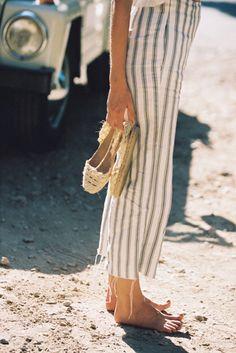 {Striped pants.}