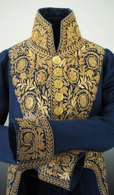 Tevaldo's new threads Historical Costume, Historical Clothing, Court Dresses, Royal Clothing, Period Outfit, Gold Embroidery, Military Fashion, Fashion History, Costume Design