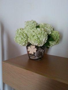 Vaso riciclo con fiori
