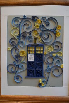 I know I'm a bit late. This is a quilled Tardis I made for a friend of mine for Christmas. - Imgur