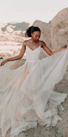 Simple Chiffon Appliques Long Beach Wedding Dresses Sweetheart A-line Summer Informal Reception Bridal Gowns Custom Made Factories And Mines Weddings & Events