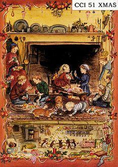 Tasha Tudor print.  I love the mice dancing in this one