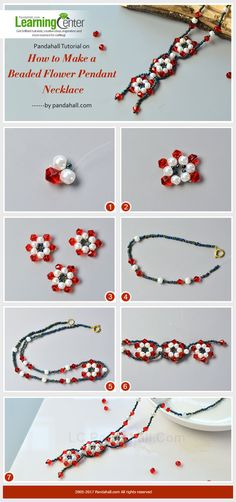 Pandahall Tutorial on How to Make a Beaded Flower Pendant Necklace