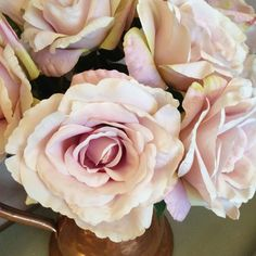 Single Vintage Purple Artificial English Rose, Individual Realistic Silk Flower