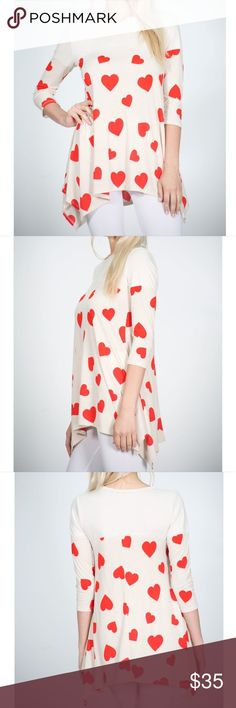 Hearty Assymetric Top Fabric Content: 92% POLYESTER 8% SPANDEX Made in: USA Model Measurements (in): Size S, height 5'7, bust 34, waist 23, hips 35 Tops Blouses