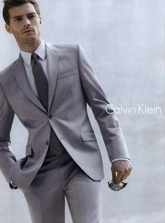 Jamie Dornan wore the Christian Grey look for Calvin Klein before he was even cast in the movie. | Fifty Shades of Grey | In Theaters Valentine's Day