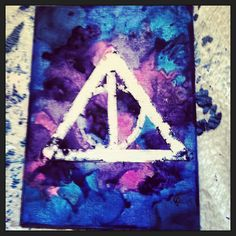 Harry Potter melted crayon art
