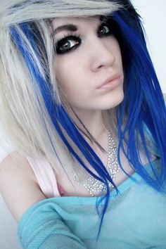 that is some cool hair I love that blue color
