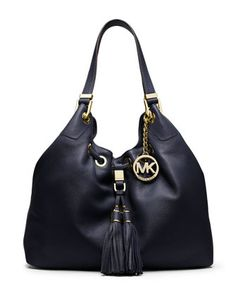 MICHAEL MICHAEL KORS Large Middleton Drawstring Shoulder Tote, Navy