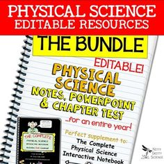 Physical Science Curriculum - Editable Resources, Notes, PowerPoint & Chapter Nitty Gritty Science