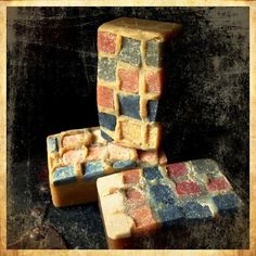 5.5-6.5ozOur Ancient series is a collection of rustic, romantic artisan handmade soaps.  I sculpt and pipe all my embeds by hand using either the cold or hot process soap making method.All our soaps contain some form of botanical along with clay's, bees wax, milks, macerated fruit, exfoliating seeds and grains.This series is meant to evoke... my artistic interpretation of times long past.Briny salty ocean spray and watery green scent of sea kelp and driftwood.Ing...