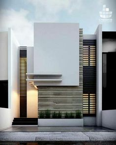 Facades of modern houses