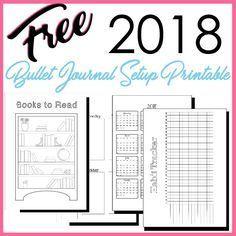 Free 2018 Bullet Journal Setup Printable PDF in A5 size