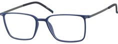Blue Ultra Thin Rectangle Glasses 7807516