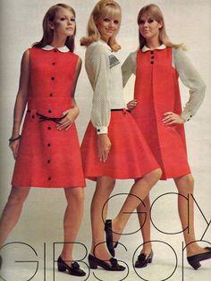 60s And 70s Fashion, Teen Fashion, Retro Fashion, Korean Fashion, Fashion Models, Vintage Fashion, Gothic Fashion, Winter Fashion, Vintage Dresses