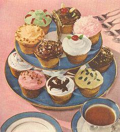 Vintage Cupcake Action   Flickr - Photo Sharing!