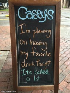 My Favorite Drink Funny Bar Signs, Tiki Bar Signs, Pub Signs, Beer Signs, Bar Quotes, Sign Quotes, Funny Quotes, Restaurant Quotes, Restaurant Signs