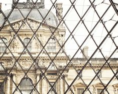 Louvre, Paris 8x10 Photo Print, Art - Pyramid, Lines, Diamond Shapes, Vintage Effect, Romantic, Chocolate, Architecture, History, French $18.00