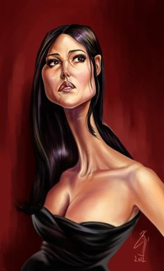 Monica Bellucci by bogdancovaciu on deviantART Satire, Funny Art, The Funny, Monica Belluci, Caricature Artist, Celebrity Caricatures, Funny Illustration, Funny Cartoons, Image Shows