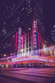 Amazing cityscapes, night lights and urban RADIO CITY MUSIC HALL