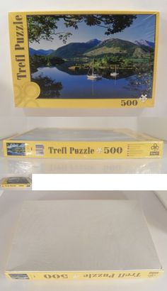 48858ec73a53 Other Vintage Puzzles 730  Trefl 500 Piece Puzzle New Scotland Mountain  Lake Boats  37001