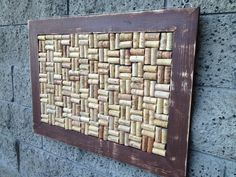 28x20 Rustic Wine Cork Board by recirclematter on Etsy, $65.00