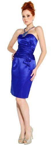 Absolutely beautiful!       http://amzn.to/H01QW3       #Strapless Satin Classic A Line Dress for Bridesmaid Formal Prom #Wedding