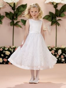 Vintage Inspired First Communion Dress - Joan Calabrese 114341 -  White Communion Dress