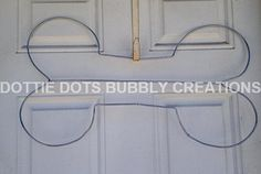 Dog Bone Wire Form Wreath by dottiedot05 on Etsy