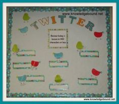 Twitter:  Encourage kids to write an exit slip answer in under 140 characters--Tweet! They used CTP's Dots on Turquoise collection.