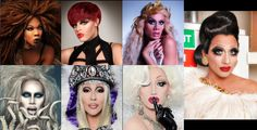 All of the winners of RuPaul's Drag Race: Bebe Zahara Benet, Tyra Sanchez, Raja, Sharon Needles, Chad Michaels, Jinkx Monsoon, and the newly crowned Biance Del Rio :D