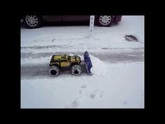 Traxxas Summit with homemade snow plow !! - YouTube