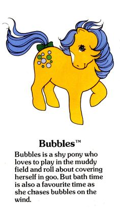 My Little Pony Bubbles fact file ...