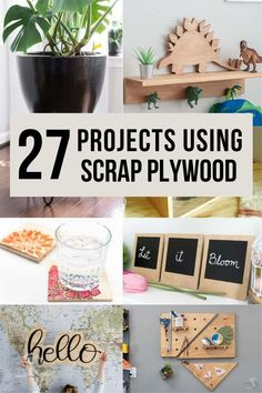 If you are looking for things to do with scrap plywood pieces leftover, here are some impressive and easy scrap plywood project ideas to turn them into useful and functional pieces. #scrapplywood… Plywood Projects, Scrap Wood Projects, Woodworking Projects That Sell, Woodworking Plans, Wood Working For Beginners, Easy Home Decor, Wax Paper, Make It Simple, Easy Diy