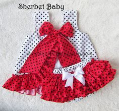 Fully Lined Ruffled Pinafore & Sassy Pants Bloomer by SherbetBaby