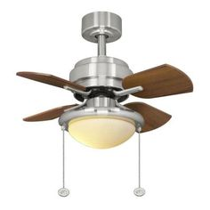 Hampton Bay Metarie 24 in. Brushed Nickel Ceiling Fan-AL508-BN at The Home Depot