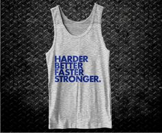 Harder Better Faster Stronger Cool Gym Fitness by FitnessFreaks, $12.95