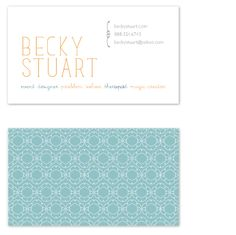 delicate : business card
