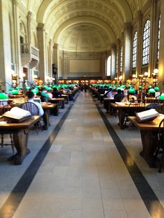 Reading room, Boston Public Library, Photo by Carly Carson