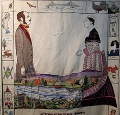 Victoria and Albert at Balmoral Victoria And Albert, Scotland, Stitching, Tapestry, Painting, Art, Embroidery, Costura, Hanging Tapestry