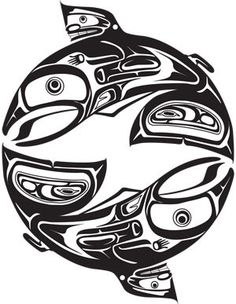 Canada's first international marketplace for First Nations, Metis, and Inuit art and design. Browse our store and discover unique designs for everyday items. Arte Haida, Haida Art, Native American Artists, Native American Indians, Tatouage Haida, Salmon Tattoo, Trout Tattoo, Koi, Haida Tattoo