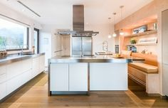 Mallorca House With Open And Light Interiors - Kitchen booth