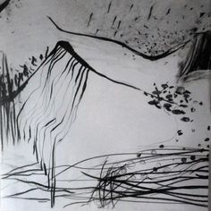 Llanllwni (4) 44cm x 44cm Charcoal and Ink on Acid Free Paper Unframed at Present
