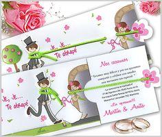 tarjetas_de_casamiento_invitaciones_de_Bodas Diy Invitations, Wedding Invitation Design, Gifts For Him, Ideas Para, Wedding Cards, Dream Wedding, Place Card Holders, Baby, Marriage Invitation Card