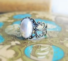 Pearl+Ring+Vintage+Style+Pewter+Ring+Steam+Punk+by+Jewelsalem,+$15.00